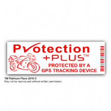 5 x Motorbike Security Stickers-GPS Tracker Device-Motorcycle Warning Tracking-Signs